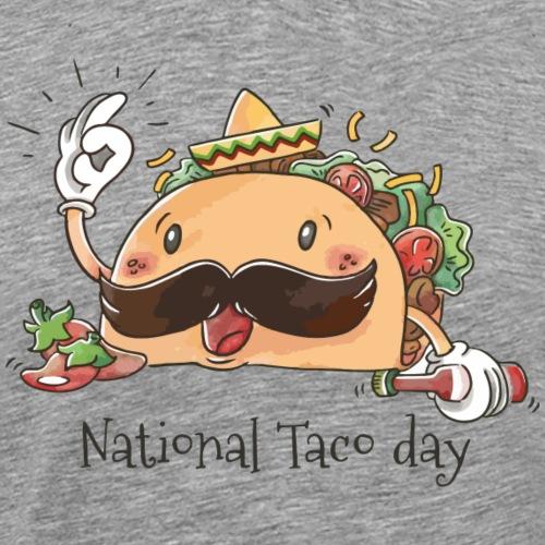 Cute Taco Character With Jalapen os - Men's Premium T-Shirt