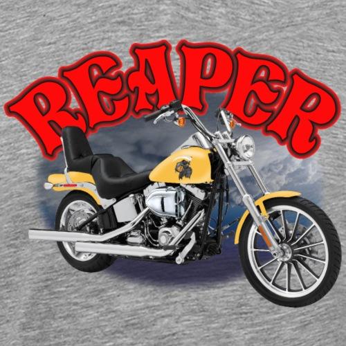 Motorcycle Reaper in Yellow - Men's Premium T-Shirt