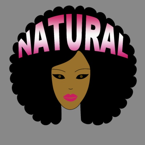 Natural Afro (Pink) - Men's Premium T-Shirt