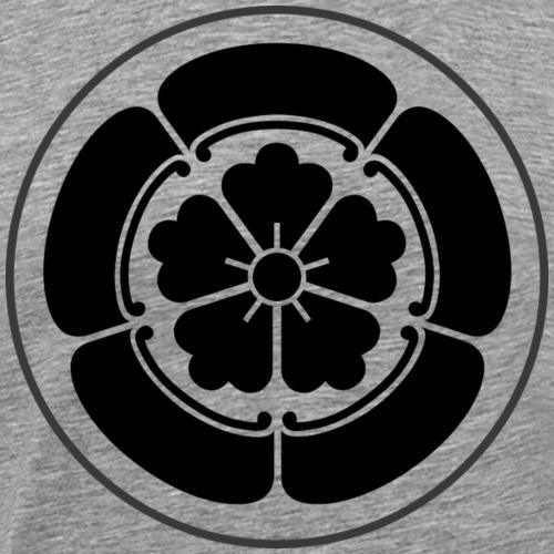 Oda Mon Japanese samurai clan black - Men's Premium T-Shirt