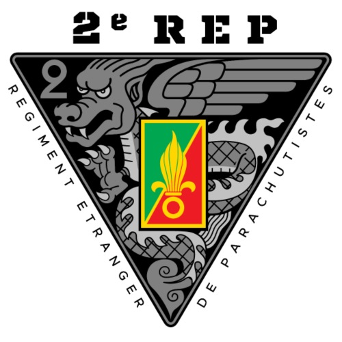 2e REP - Foreign Legion - Badge - Dark - Men's Premium T-Shirt