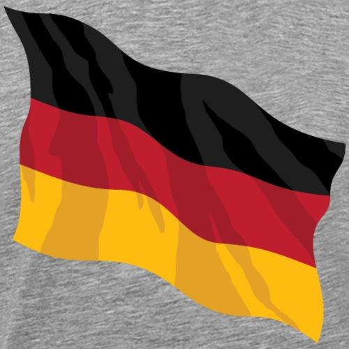 German Waving Flag Illustration - Men's Premium T-Shirt