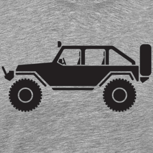 Off Road 4x4 Silhouette - Men's Premium T-Shirt
