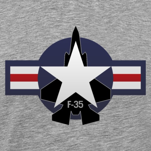 F-35 Lightning II Military Jet Fighter Aircraft - Men's Premium T-Shirt
