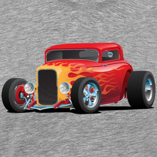 Classic Bold Red Custom Street Rod - Men's Premium T-Shirt
