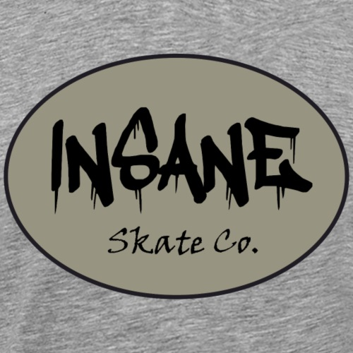 Insane Skate Co. Oval Design - Men's Premium T-Shirt