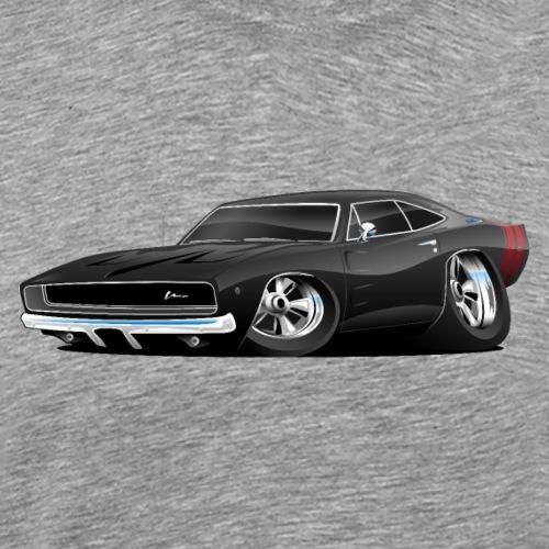 Classic 60's American Muscle Car Cartoon - Men's Premium T-Shirt