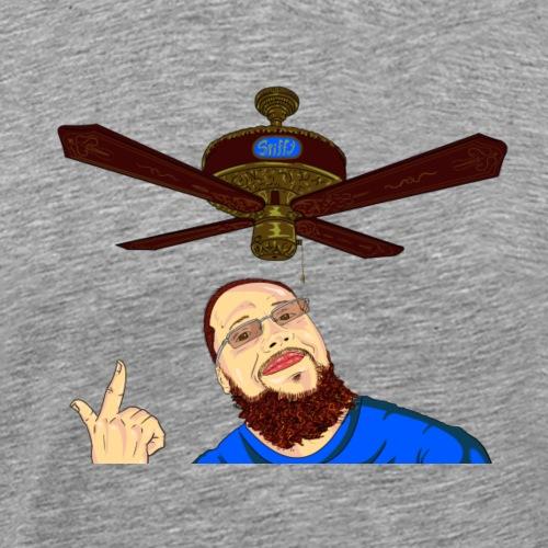 Dan Spiffy Neuman Ceiling Fan Logo #1 no BG - Men's Premium T-Shirt