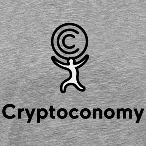 Cryptoconomy Logo BW - Men's Premium T-Shirt