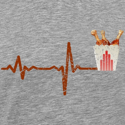 Heartbeat fast food chicken - gift - Men's Premium T-Shirt