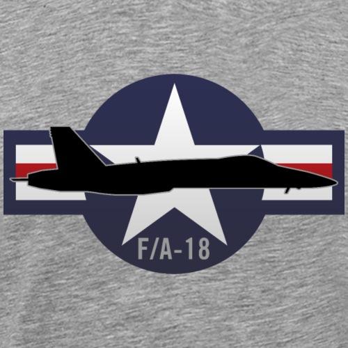 F/A-18 Hornet Military Fighter Jet Aircraft - Men's Premium T-Shirt