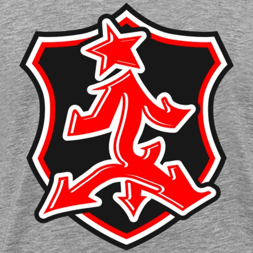 Red shield Impower logo - Men's Premium T-Shirt