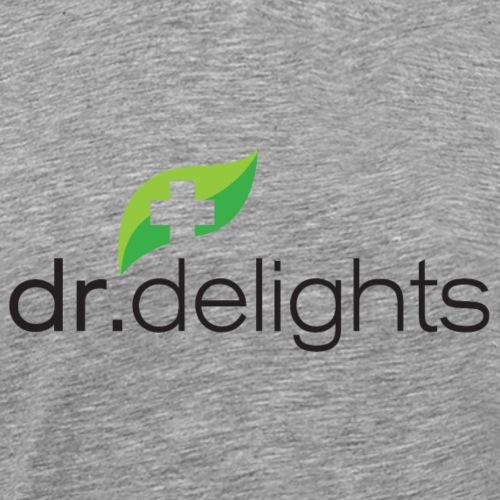 Dr Delights Logo Black 4000 pix - Men's Premium T-Shirt