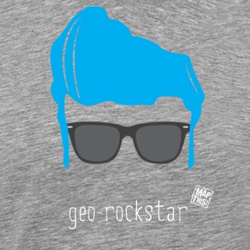 Geo Rockstar (him) - Men's Premium T-Shirt