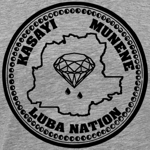 Luba Nation Kasayi Munene Coin Design (Black) - Men's Premium T-Shirt