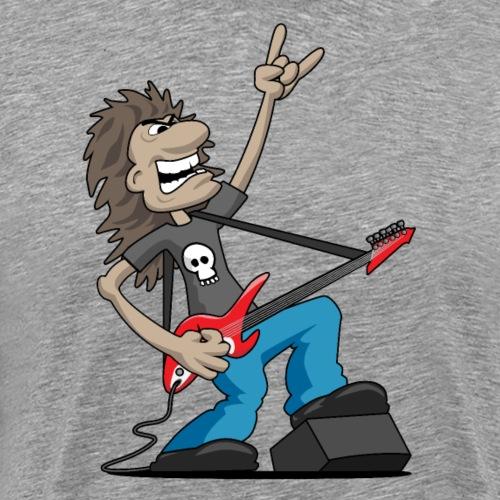 Heavy Metal Rock Guitarist Cartoon