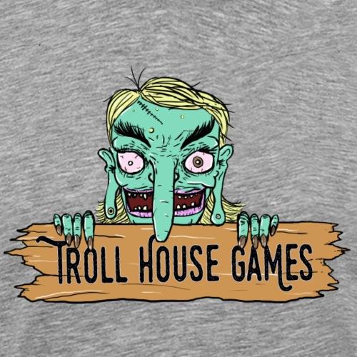 Troll House Games Cartoon Logo - Men's Premium T-Shirt