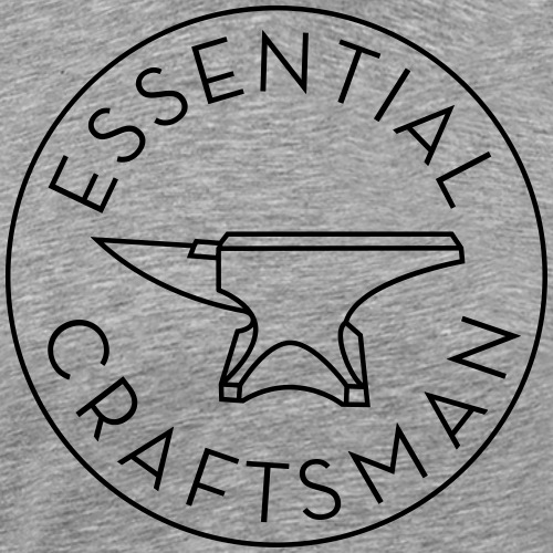 Essential Craftsman Logo - Black - Men's Premium T-Shirt