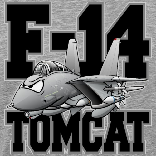 F-14 Tomcat Military Fighter Jet Aircraft Cartoon - Men's Premium T-Shirt