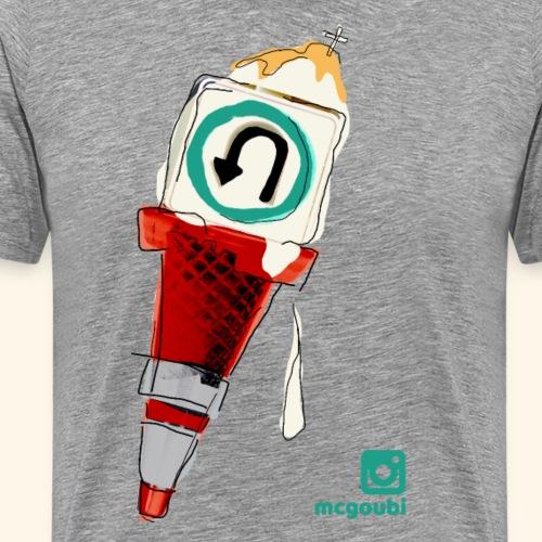 gelato under construction - Men's Premium T-Shirt
