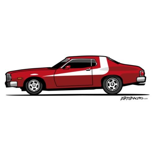 Gran Torino Striped Tomato Red Undercover Cop Car - Men's Premium T-Shirt