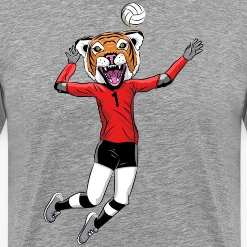 Tiger mascot volleyball - Men's Premium T-Shirt