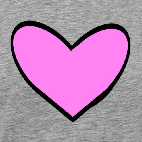 Pink Heart - Men's Premium T-Shirt