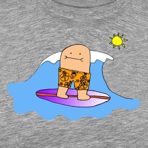 Surfing Bert, Full Color (tshirts) - Men's Premium T-Shirt