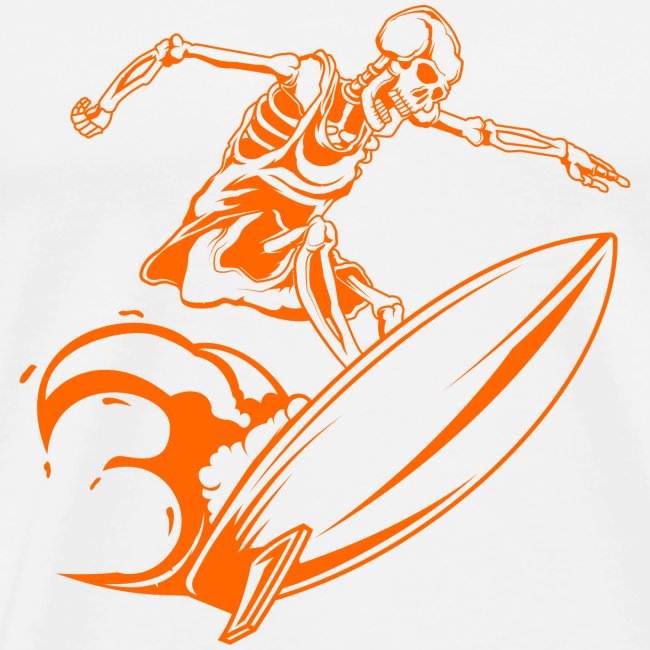 Surfing Skeleton 3a