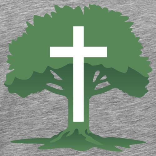 Christian Cross with Tree of Life - Men's Premium T-Shirt