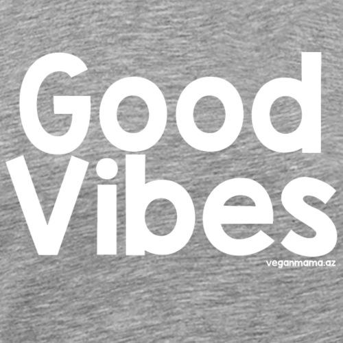 Good Vibes in White - Men's Premium T-Shirt