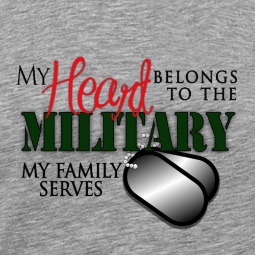 Military Tee Shirts - My Family Serves - Men's Premium T-Shirt