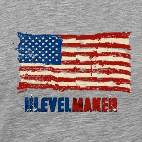 iiLevelMaker US Design - Men's Premium T-Shirt