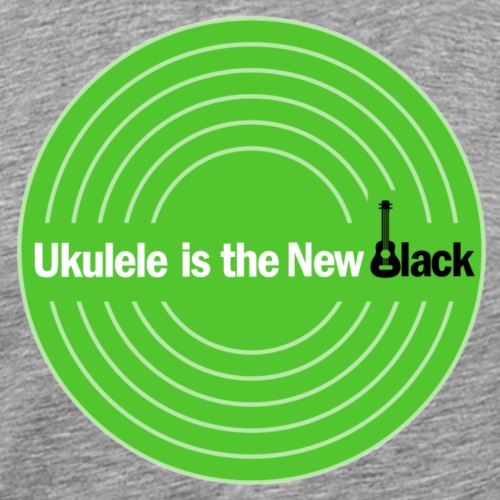 Ukulele Is The New Black Disc Logo - Men's Premium T-Shirt