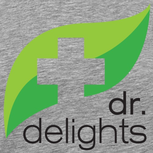 Dr Delights Square Logo Black 4000 pix - Men's Premium T-Shirt