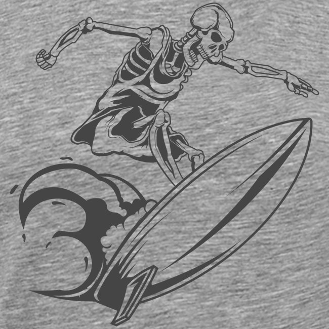 Surfing Skeleton 3