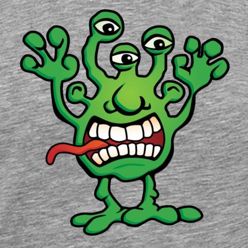 Cartoon Monster Alien - Men's Premium T-Shirt