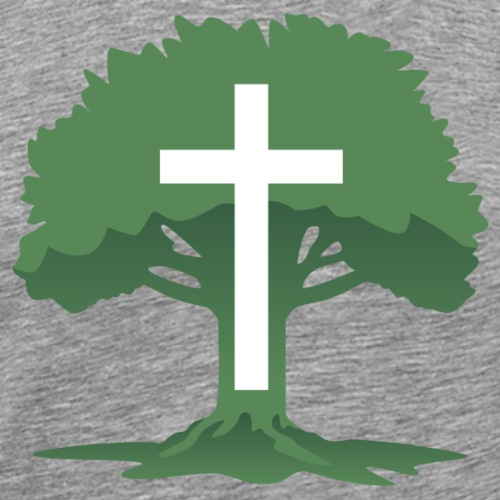 Christian Cross with Tree of Life - Men's Premium T-Shirt