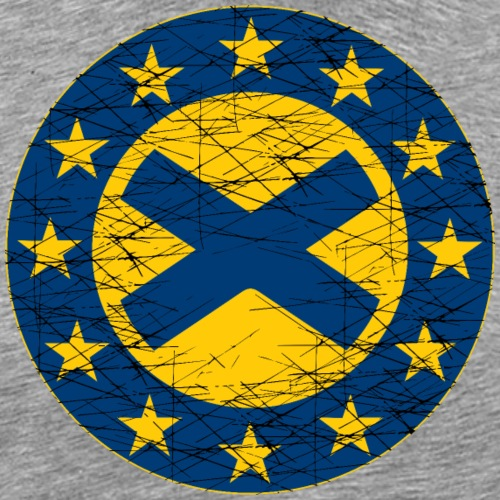 EU Flag and St Andrew Cross - Men's Premium T-Shirt
