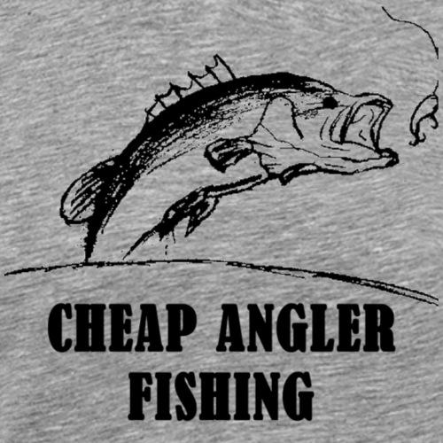 Cheap Angler Fishing Channel Logo w/ Text - Men's Premium T-Shirt