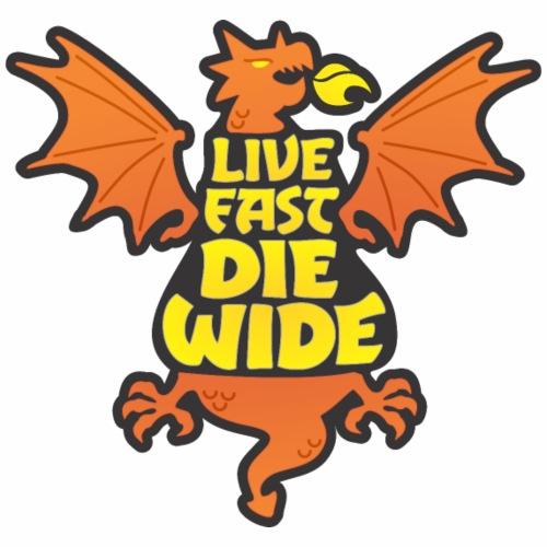Live Fast Die Wide (orange) - Men's Premium T-Shirt