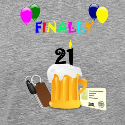 Finally 21(2) - Men's Premium T-Shirt