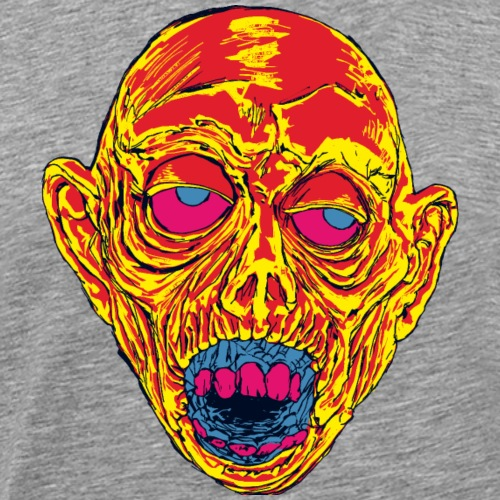 Graveyard Ghoul Toxic Orange - Men's Premium T-Shirt