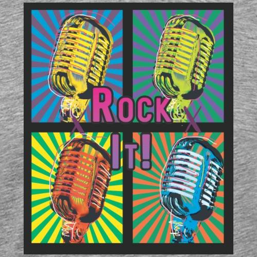 Rock it Pop Art Microphone Riot Party