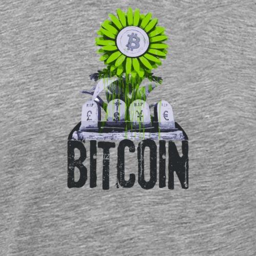 Bitcoin Banksy Street Art Tshirt - Men's Premium T-Shirt