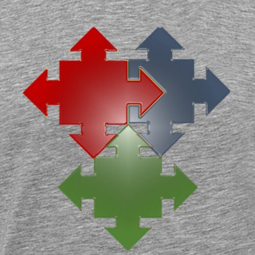 quad arrow sign - Men's Premium T-Shirt