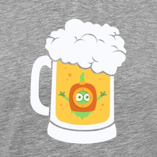Craft Beer Diving Hops Brew Funny - Men's Premium T-Shirt