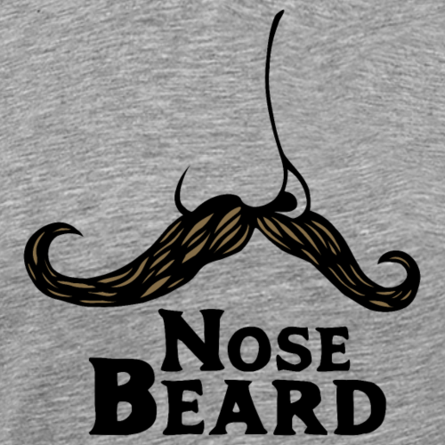 Nose Beard Mustache - Men's Premium T-Shirt