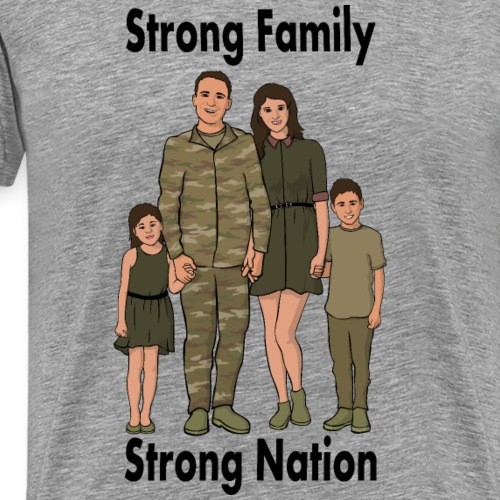 Strong Nation: Army - Men's Premium T-Shirt