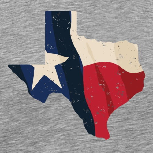 Texas with Flag Overlay - Men's Premium T-Shirt